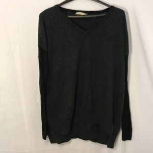 Grey and Black Angora Blend Sweater